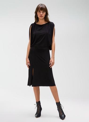 People By Fabrika Kol Detaylı Elbise Siyah